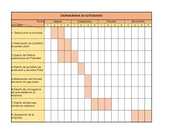 Formatos De Cronogramas De Actividades