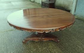 large antique 2 metre round table 6ft diameter walnut dining table to seat up to 10 people comfortably