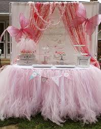 Tutu Table Skirt: Lots of layers of delicate pink tulle create a very  feminine party
