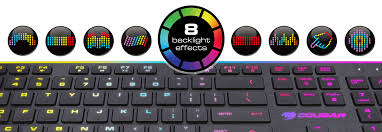 with a backlit area far larger than that of most gaming keyboards the eight diffe effects including a customizable one bee a truly enjoyable