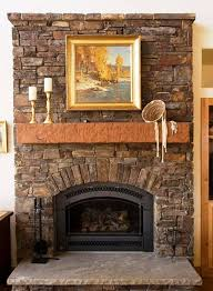 contemporary airstone fireplace