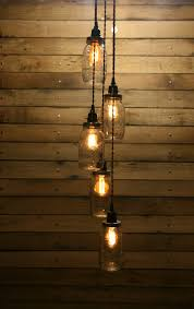 items similar to 5 jar pendant light mason jar chandelier light 7 hang down mason jar hanging pendant light on