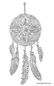 Small Picture Instant Digital Download dream catcher coloring page by