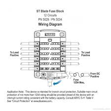 blue sea systems st blade fuse block 12 circuits 5034 blue sea blue sea systems 5034 wiring schematic