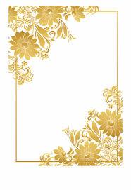 Golden Border Frame Free Png Download Flower Border Png