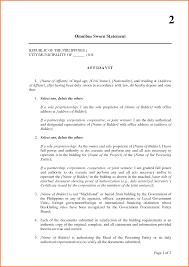 Sworn Statement Example Sworn Statement Example Letter Sample Affidavit Fitted Including 14