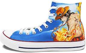 Its characters are admired and beloved on almost every continent. Converse Women Men S Shoes One Piece Hand Painted Luffy Ace All Star Canvas Blue High Top Sneakers Men S 9 5 M Women S 11 5 M Amazon Co Uk Shoes Bags