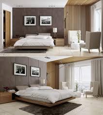 Maskulin Schlafzimmer Design Holz Lackierte Nachttisch Schwarz Leder