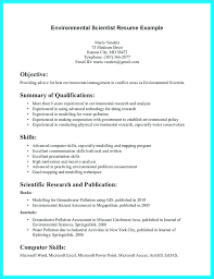 Environmental Science Resume Objective Data Scientist Examples For
