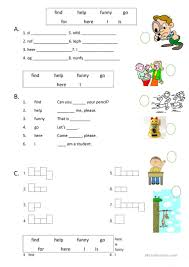 Pre Primer Dolch Dolch Pre Primer Sight Words 2 Worksheet Free Esl Printable