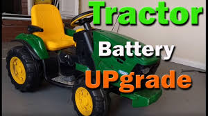 peg perego john deere tractor battery upgrade