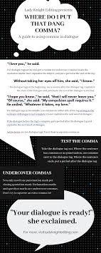 When Do I Use A Comma Dialogue Where The Heck Do Commas Go Lady Knight Editing