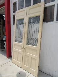 9 of 12 antique stained glass double entrance french doors 60 x 101 salvage