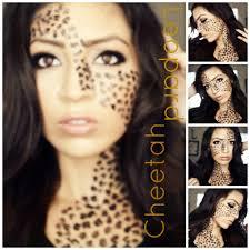 cheetah print face makeup leopard you