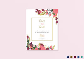 Save The Date Template Word Burgundy Floral Save The Date Template
