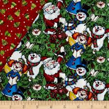 Christmas 2015 Double Sided Quilted Singing Santa Multi - Discount ... & Christmas 2015 Double Sided Quilted Singing Santa Multi - Discount Designer  Fabric - Fabric.com Adamdwight.com