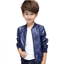 cool kids leather jacket coat solid gentleman style jacket baseball coat for 2 10years children boys girls leather outerwear clothing