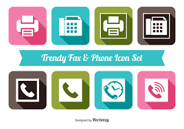 Fax Download Fax And Phone Icon Set Download Free Vector Art Stock Graphics