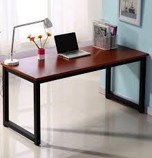 computer tables for office. Writing Desk 55in Large Study Computer Workstation For Home Office Teak+black Leg Tables