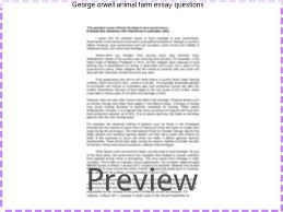 george orwell animal farm essay questions coursework academic  george orwell animal farm essay questions this english literature essay on essay animal