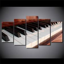 5 piece canvas art piano keys music canvas painting home decor wall pictures ash wall on piano themed wall art with 5 piece canvas art piano keys music canvas painting home decor wall