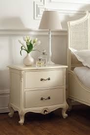 La Rochelle Bedroom Furniture Racgency French Mid 18th Century Ivory White 2 Drawer Bedside Chest