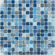 bathroom glass floor tiles. Blue Copper Blend 3/4\u0027\u0027 X Glossy Glass Bathroom Floor Tiles