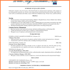 5 Resume Template With Volunteer Experience Statement Synonym
