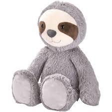 14 large smiling sloth plush gray walmart