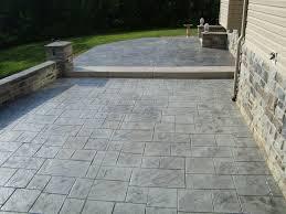 wood finish concrete patio