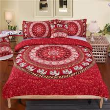 how to sew a duvet cover from sheets ilration red mandala elephant pattern duvet cover