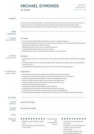 Englishr Cv Template Word Esl Resume Sample Language English