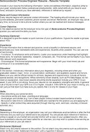 Sample Resume For Process Engineer Semiconductor Cover Letter Super Semiconductor Process Engineer
