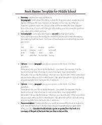 Book Report Templates Middle School High School Book Report Printable Review Template Middle Free Forms