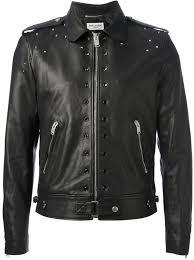 saint lau studded leather jacket