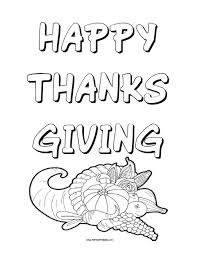Happy Thanksgiving Coloring Page Free Printable Allfreeprintablecom