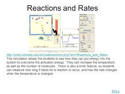 reactions and rates phet colorado edu simulations sims