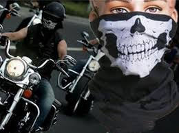 skull multi bandana bike motorcycle helmet neck face mask