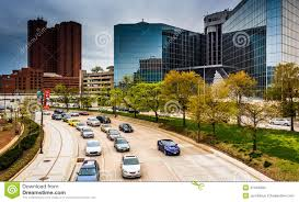 Hotels On Light St Baltimore Md Traffic On Light Street In Baltimore Maryland Editorial