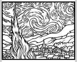 Small Picture van gogh coloring pages Google zoeken Art Projects Pinterest