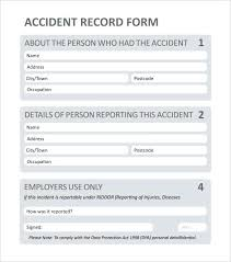 Accident Report Form Template Format Templates Forms For Child Care