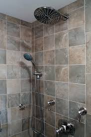 multiple shower heads. series of shower heads and sprays multiple r