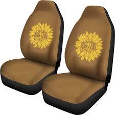 faith sunflower on rustic brown faux