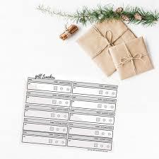 Gift Tracker Christmas Gift List Organized Free Gift Tracker Sheet Download