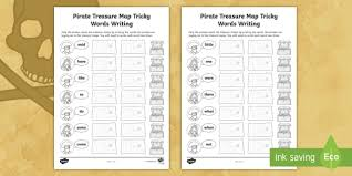 If you think about what is involved in learning to read, you will realize that this is a very complex process. Pirate Treasure Map Phase 4 Tricky Words Writing Activity Sheets