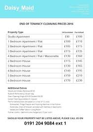021 Template Ideas Cleaning Services Price Breathtaking List