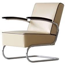 bauhaus tubular steel lounge chair at 1stdibs mid century chrome leather chair