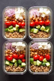 Weekly Lunch Prep Vegetarian Meal Prep Bowls
