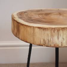 Image of: Tree Trunk Coffee Table Surface