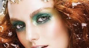 glittery 80s makeup